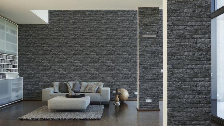 Tapete Memory Vliestapete Barock 95372-3 953723 schwarz grau - schöner wohnen tapeten wohnzimmer