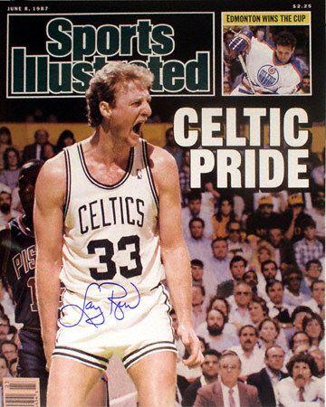 "Sports Illustrated cover - Larry Bird, Boston Celtics ""Celtic Pride"" #larrybird #SICover #SportsIllustrated"