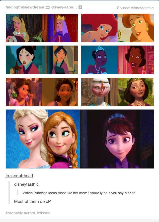 Disney Princesses and Queens.