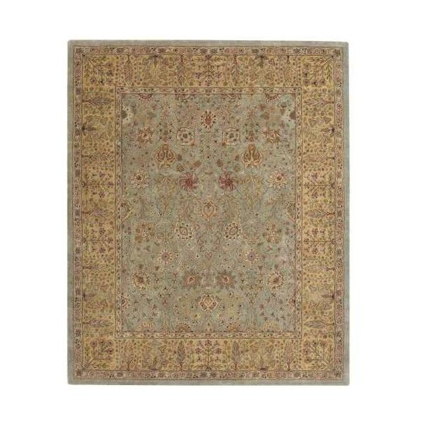Capel 9292RS002400 Forest Park-persian Cedars 2' x 3' Rectangle Wool... (3.285 ARS) ❤ liked on Polyvore featuring home, rugs, area rugs, green, rectangle rugs, persian style area rugs, persian style rugs, persian rugs and green wool rug