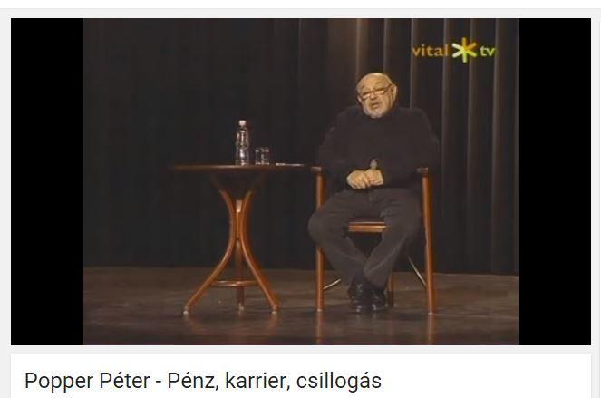 Popper Péter - Pénz, karrier, csillogás című előadása a siker természetéről
