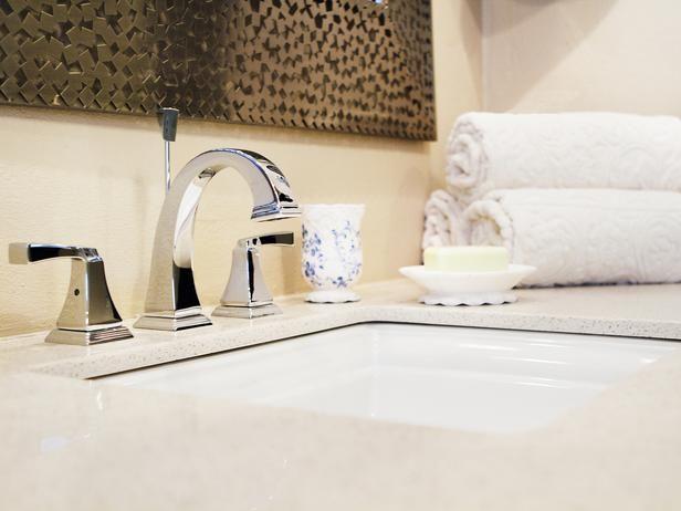 Modern Sink - Contemporary Neutral Bathroom on HGTV