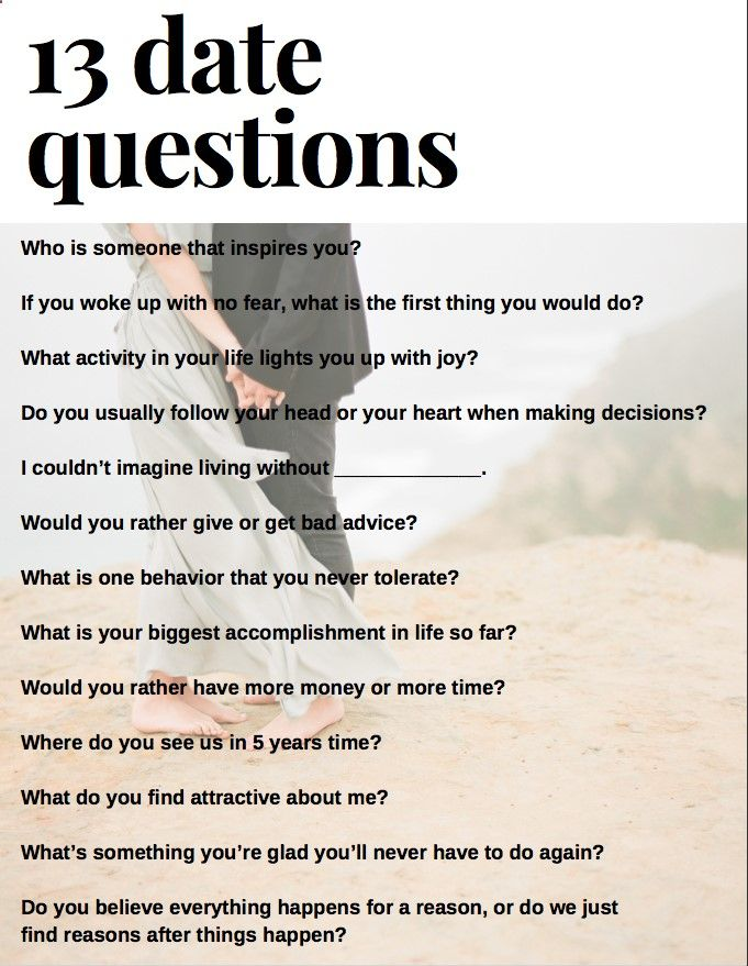 What to ask your gf