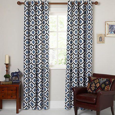 Buy John Lewis Indah Lined Eyelet Curtains Online at johnlewis.com