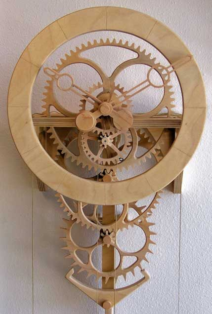 Wooden Gear Clock Plans from Hawaii by Clayton Boyer. These are the best.  I'll make one of these soon