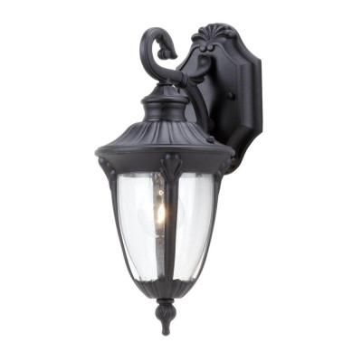 Progress lighting meridian collection 1 light textured black wall lantern p5892 31