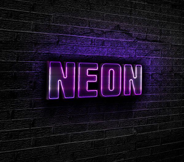 Free designs - Purple neon text effect