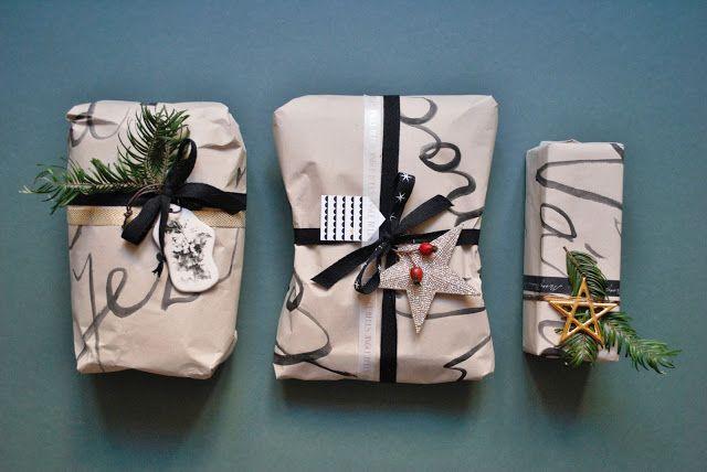 Nordic Day: Tvoříme / DIY balicí papír pro stylovou nadílku