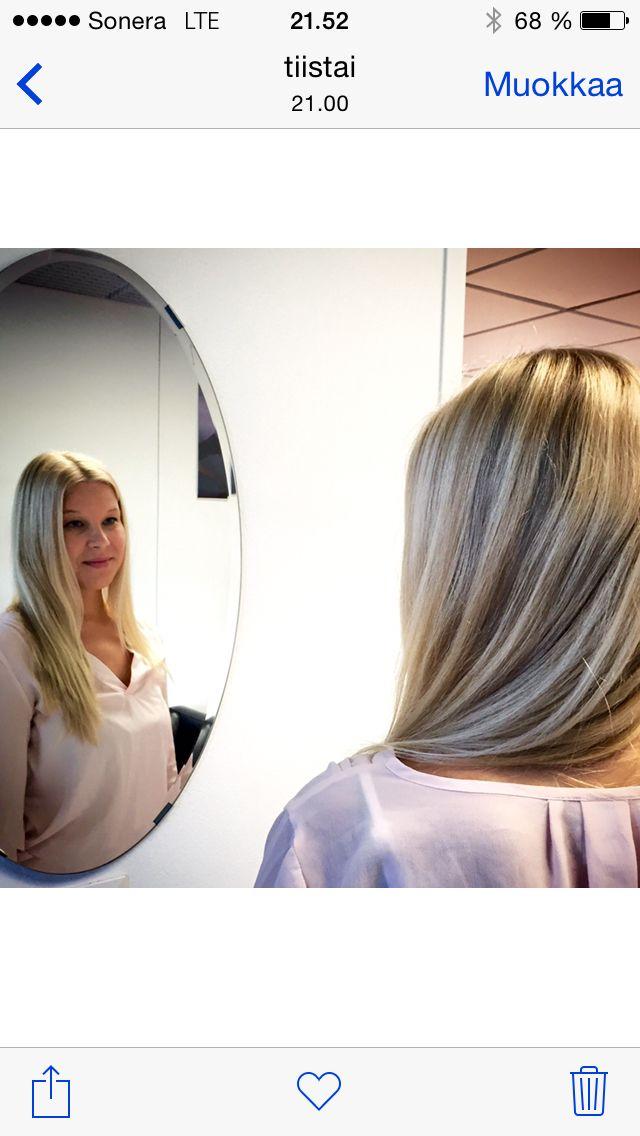 Bronde highlights / vaaleat tyviraidat, vaaleat pitkät hiukset