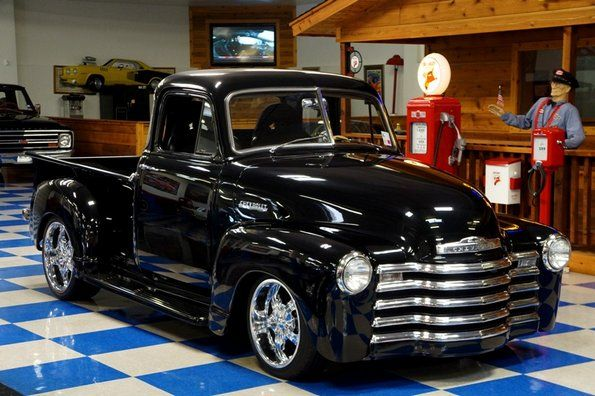 Black 1952 chevy pick up 1952 chevrolet 5 window pickup for 1952 chevy pickup 5 window