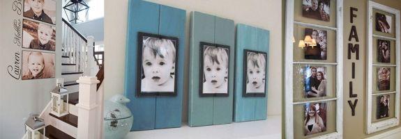 Kreatív családi fotó fal