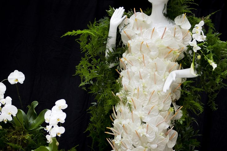 Created by Bloomerie Florist for the Aveda Mannequin.