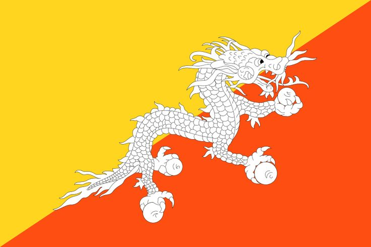 Flag of Bhutan - Gallery of sovereign state flags - Wikipedia, the free encyclopedia