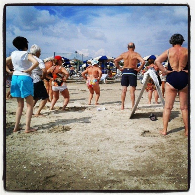 #ricordi d'#estate #fitness al #fantiniclub #spiaggia #mare #sea #beach #pineta #pinarella #cervia #riviera #romagna #igersfc #ig_ravenna #ig_forli_cesena #ig_emilia_romagna #ig_emiliaromagna #vivoitalia #vivoemiliaromagna #vivocesena #vivorimini