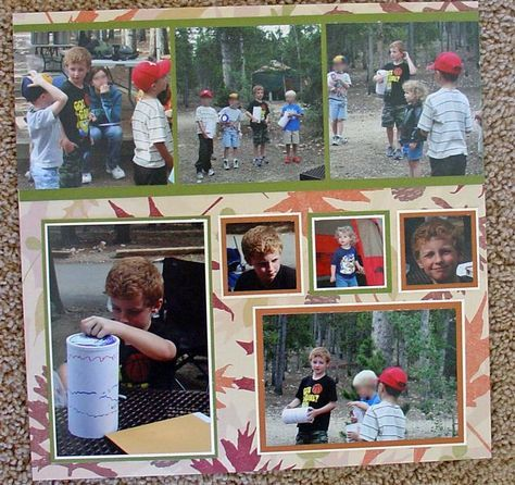camping with boy scouts - Scrapbook.com