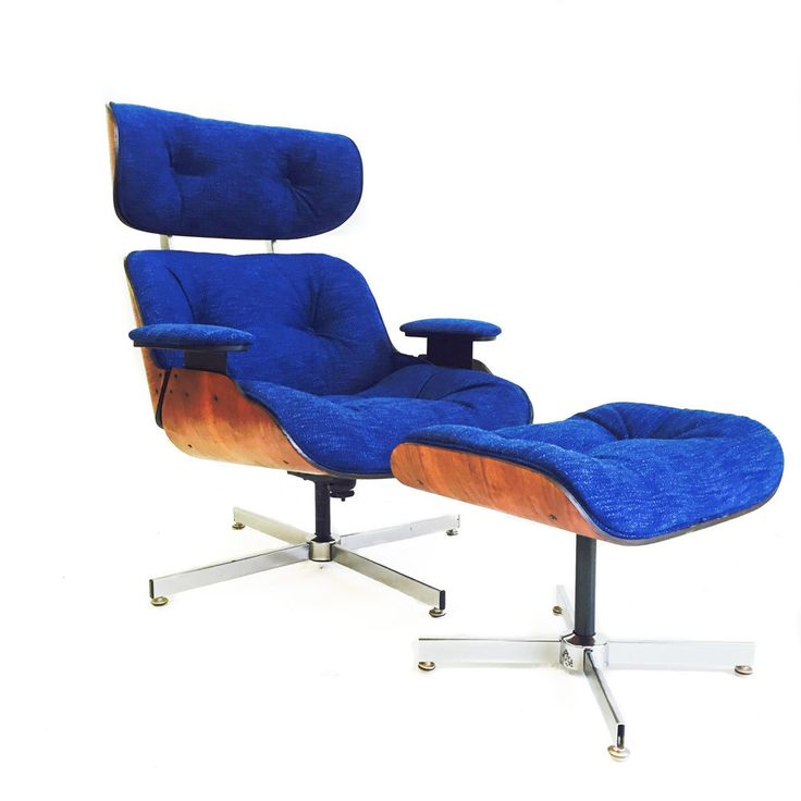 Royal Blue Eames Style Lounge Chair