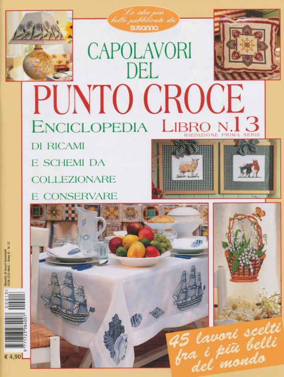 Look at the ships on the tablecloth!  Wow!  Gallery.ru / Enciclopedia de punto de Cruz 13