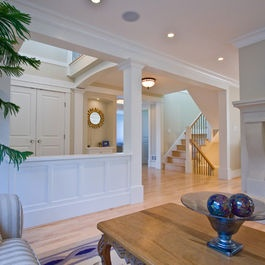 24 best images about half wall on pinterest entry ways - Columns in living room ideas ...