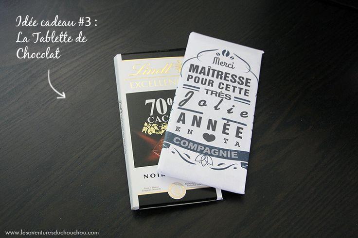 id e cadeau pour nounou tablette chocolat avec tiquette personnalis e printable diy. Black Bedroom Furniture Sets. Home Design Ideas