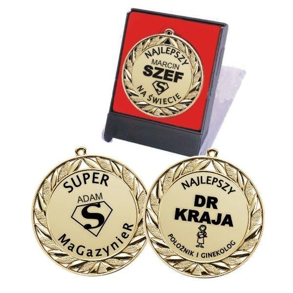 Medal z grawerem to zabawna forma podziękowania dla szefa i pracownika