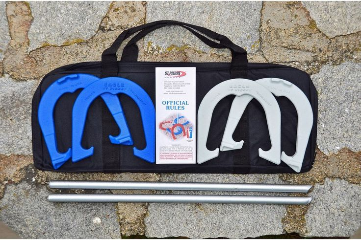 Lawn Yard Tournament Horseshoe Set W Carry Nylon Bag Outdoor Horse Shoes Game  #StPierre #Lawn #Yard #Horse #Shoe