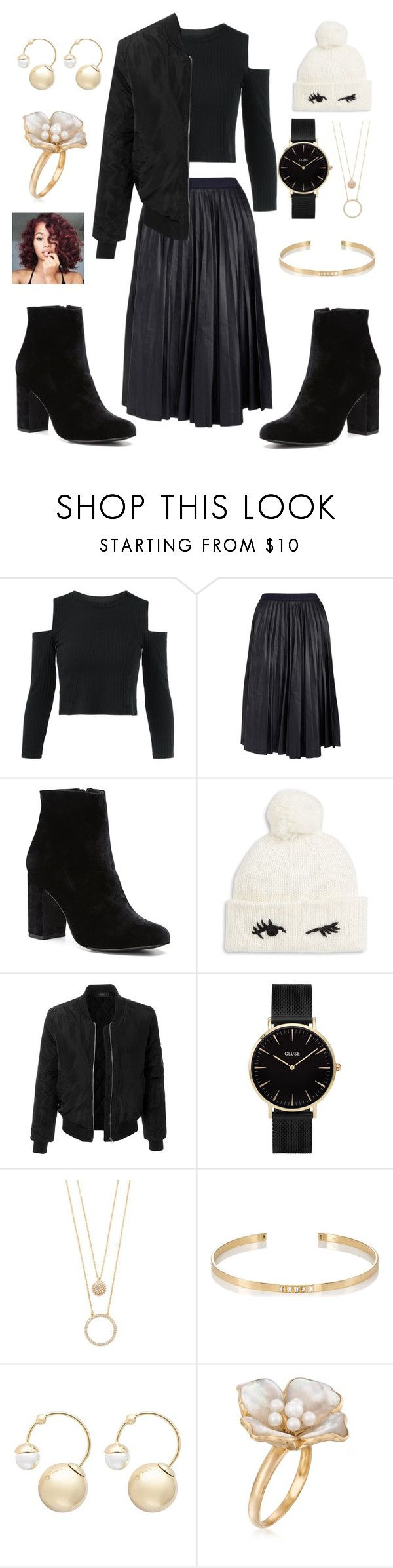 """""""Pleated Leather Skirt"""" by gryffindor-designer ❤ liked on Polyvore featuring Theory, Witchery, Kate Spade, LE3NO, CLUSE, Ileana Makri and Ross-Simons"""