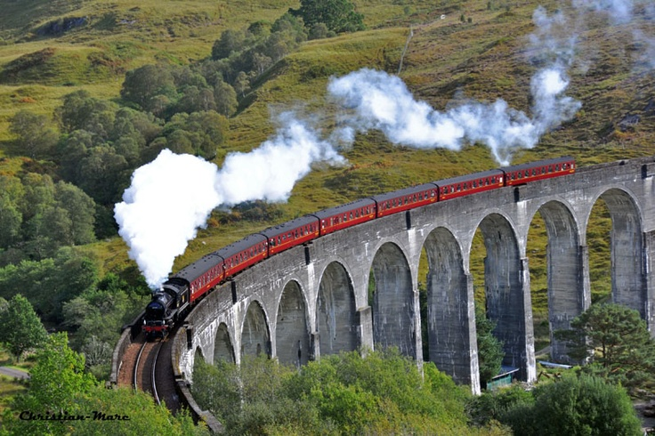 To ride the West Highland Line in Scotland. (Aka The Hogwarts Express)
