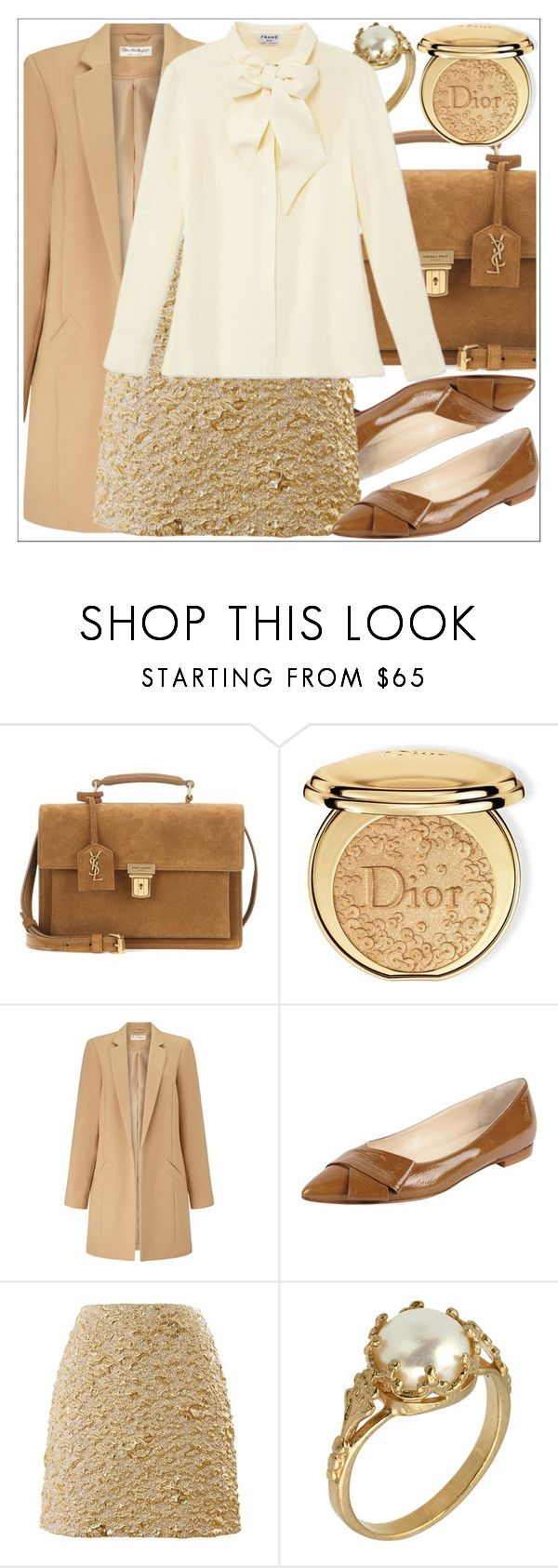 """cold coffee - ed sheeran"" by hanasykes ❤ liked on Polyvore featuring Yves Saint Laurent, Christian Dior, Miss Selfridge, Butter Shoes, Kenzo and Frame"
