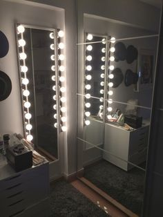 long mirror with lights - Google Search