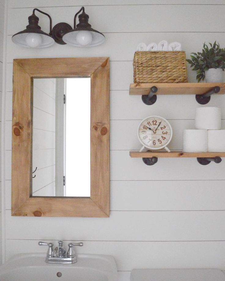 149 best sundays with susie images on pinterest house - Farmhouse style bathroom mirrors ...