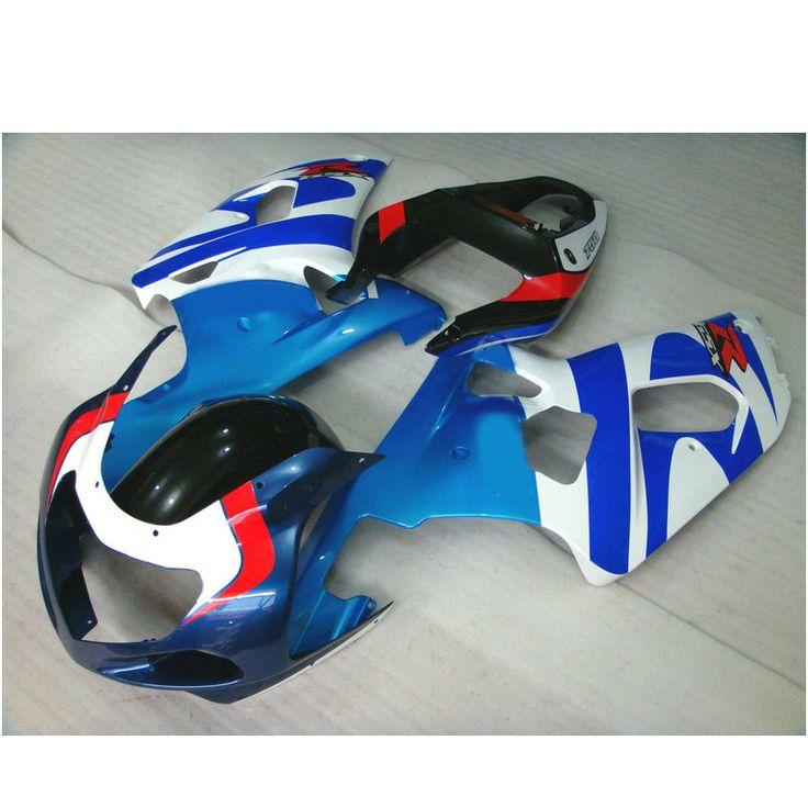 Custom free Injection fairings for SUZUKI 2002 2003 GSXR 600 2001 GSXR 750 K1 GSXR600 01 02 03 GSXR750 blue white  fairing parts