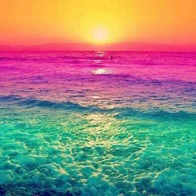 Just imagine ocean sun sunset blue pink waves for Colors that go with ocean blue