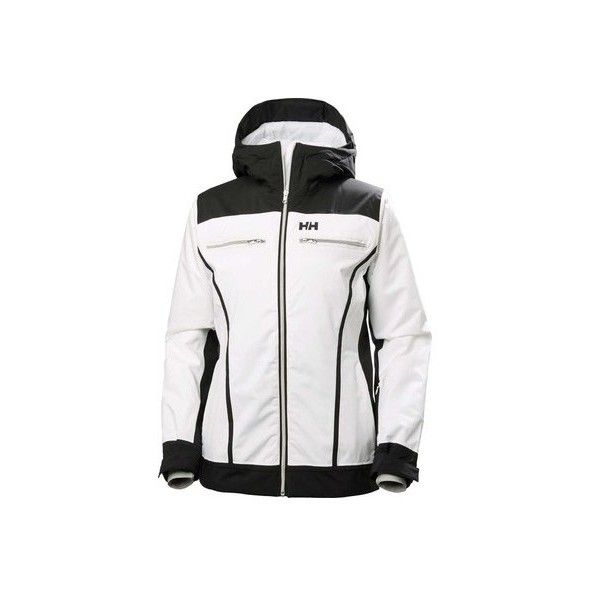 Women's Helly Hansen Belle Ski Jacket (2 745 SEK) ❤ liked on Polyvore featuring activewear, activewear jackets, jackets, white and helly hansen