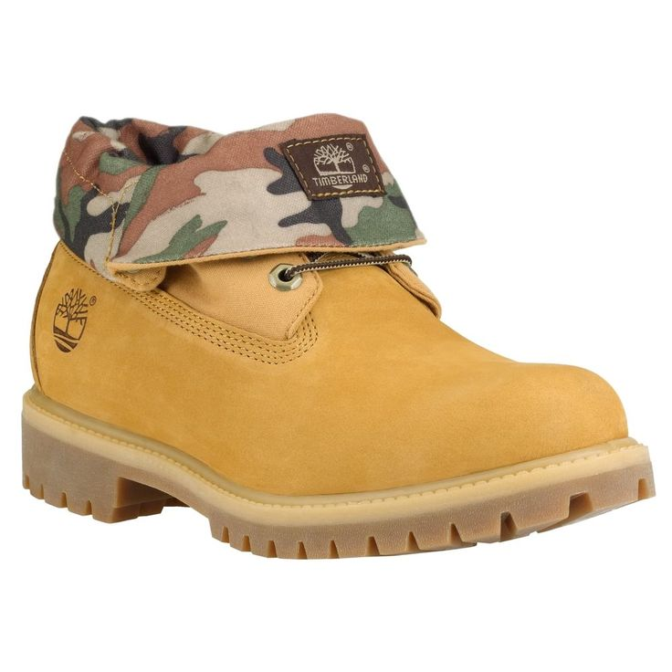Timberland 6835A Mens size Roll Top Boots Wheat Camo Leather Rolltop Shoes #Timberland #AnkleBoots