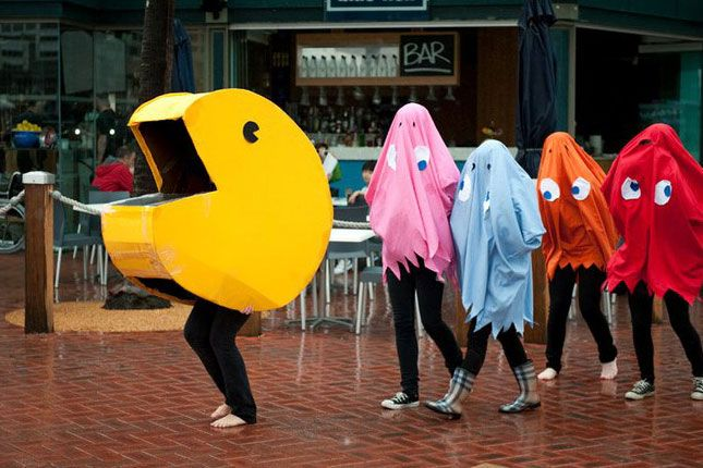 Pacman + Ghosts Group Halloween Costume.