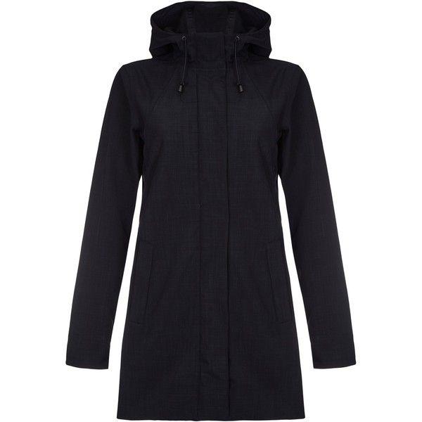 ILSE JACOBSEN Black Raincoat (11,430 DOP) ❤ liked on Polyvore featuring outerwear, coats, black, waterproof raincoat, waterproof coat, mac coat, rain coat and water proof coat