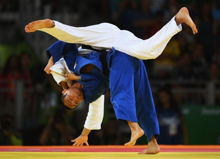 リオ五輪第2日。柔道。海老沼匡が男子66kg級でアントワン・ブシャールを破り銅メダル=ブラジル・リオデジャネイロ