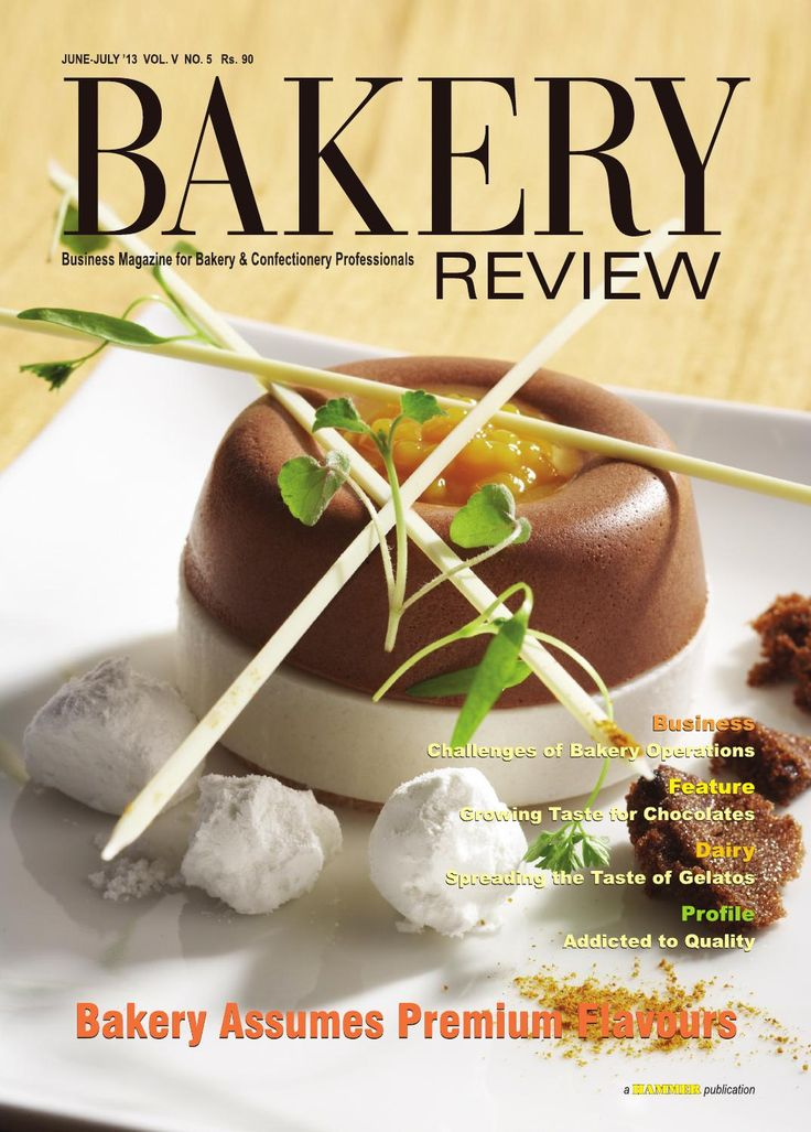 Bakery Review (June-July 2013) The magazine for Bakery & Confectionery Professionals.  In the Cover Story of this issue of Bakery Review, we have attempted to focus on the advent of a variety of premium products in the breads and biscuits segment of the Indian bakery industry, which is shaping up as a powerful consumer trend in the recent times.   The factors that need careful consideration for running a bakery unit to success are explored in our Business Story.  Our story on Gelato Vinto…