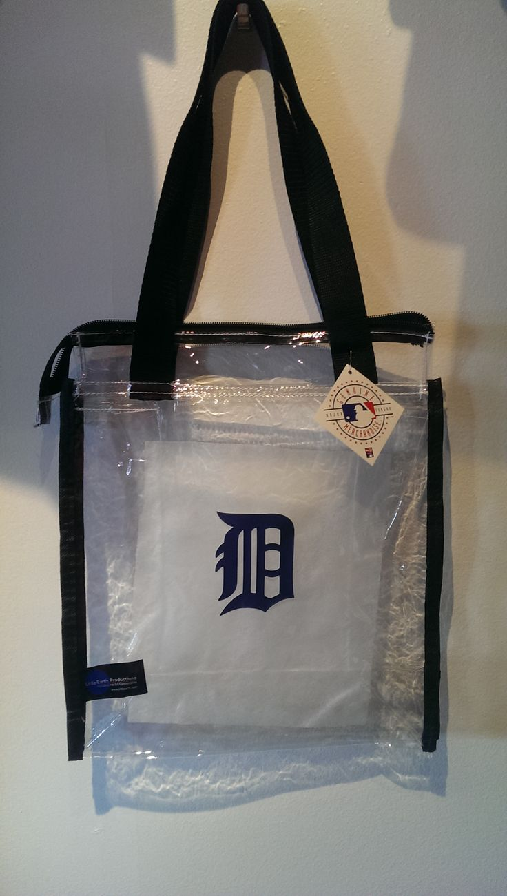 game gear colors : Detroit Tigers Clear Square Stadium Tote Detroit Game Gear