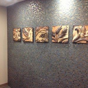 ,, piastrelle di arte ceramica sgraffito intagliato a mano