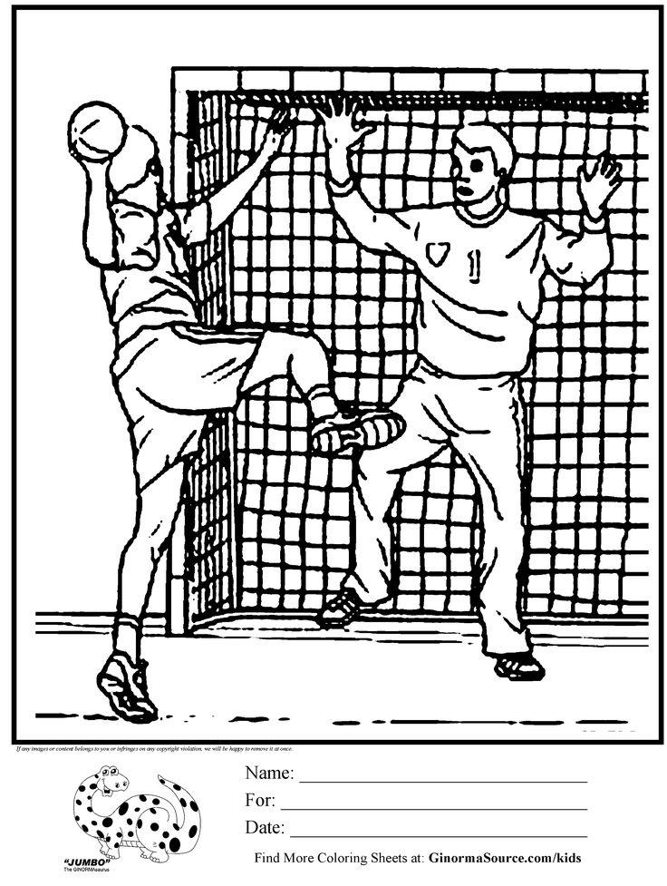 olympic handball coloring page