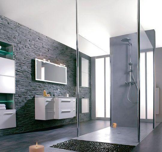 Du béton ciré sur tous les fronts - Le béton ciré donne du cachet à la salle de bains - CôtéMaison.fr