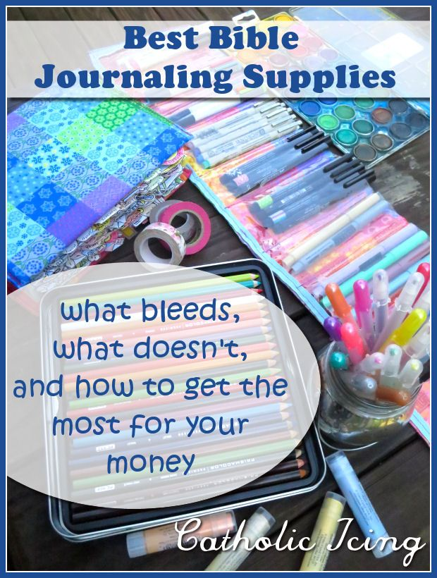 Best Bible Journaling Supplies {what bleeds, what doesn't, and how to get the most for your money}