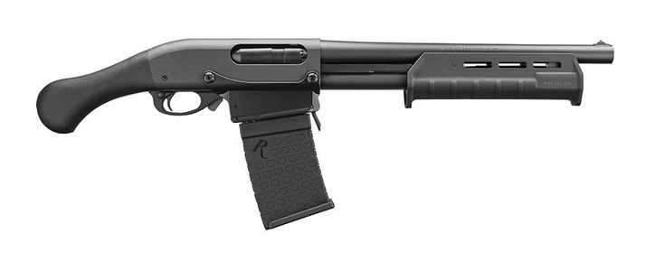New From Remington: 870 Tac-14 DM - The Truth About Guns  ||  The NFA skirting Tac-14 is a hit! So much so that Remington's having another go. The newest member of the F-off ATF club: the Tac-14 DM, as in detachable magazine. With a six round magazine, a Raptor pistol grip and Magpul fore-end the Remington Tac-14 DM is well equipped right out of the box. The ……