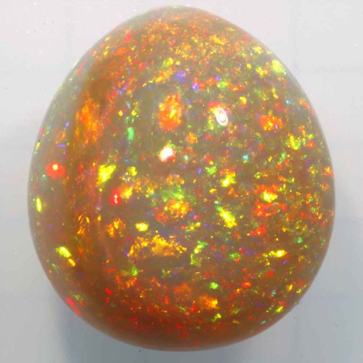 Magnificent 24,32 cts wollo opal in pear shape. wollo opal