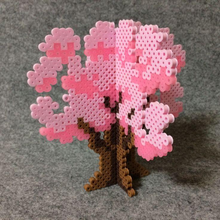 Cherry Blossoms by tsubasa.yamashita fuse beads ha…