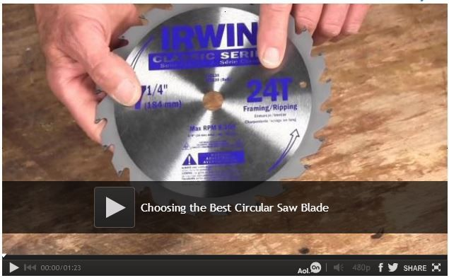 Video: Choosing the Best Circular Saw Blade We share some tips on how to choose the best circular saw blade for whatever job you are doing. After you watch this video you will be able cut wood, tile, brick, and even steel with your circular saw with the right blade. Watch: http://www.familyhandyman.com/tools/circular-saws/choosing-the-best-circular-saw-blade