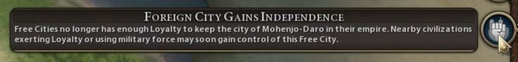 "R&F BUG - ""Foreign City Gains Independence"" when Free City becomes part of another empire. (Mohenjo-Daro just became part of Netherlands; quill18 Cree #4 at 15:00) #CivilizationBeyondEarth #gaming #Civilization #games #world #steam #SidMeier #RTS"