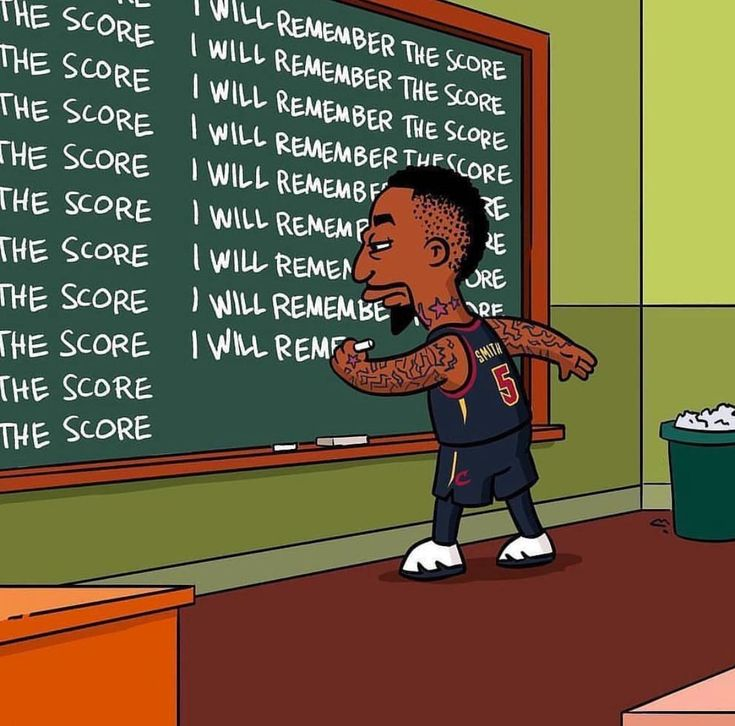 Cleveland Cavs J. R. Smith, Simpsons, Score #nbabasketballteam  – Basketball