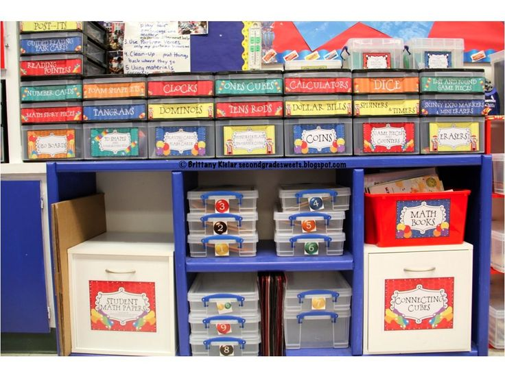 Amazing way to organize manipulatives and manage enVision math centers!